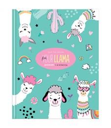 """Дневник 1-4 кл. 48л. (твердый) """"Funny lama"""", матовая ламинация, выборочный лак"""
