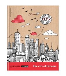 """Дневник 1-4 кл. 48л. (твердый) """"Путешествия. City of dreams"""", матовая ламинация"""
