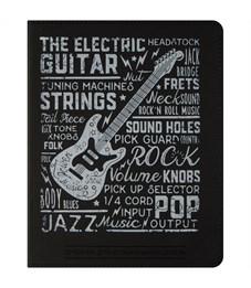 """Дневник для музыкальной школы 48л. ЛАЙТ """"Soft-touch. Rock Style"""", иск.кожа,тонир.блок,ляссе,фольга"""