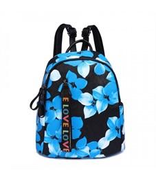 DS-9029 Рюкзак (/2 синие цветы на черном)