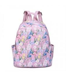 DS-938 Рюкзак дамский (/12 цветы на розовом)