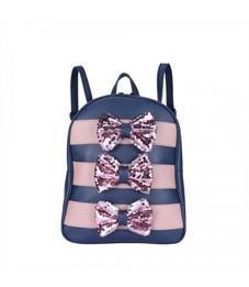 DW-989 Рюкзак с сумочкой (/2 сине-розовый)
