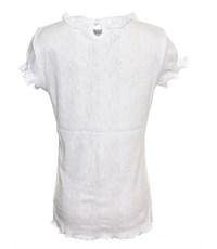 Фото 2. Джемпер белый Снег ажурный с кнопкой короткий рукав 832-ДАК-05