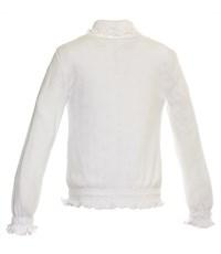 Фото 3. Джемпер белый Снег ажурный с резинкой длинный рукав