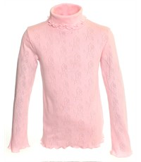 Джемпер для девочки Снег розовый ажур 959-ДАДВ-07