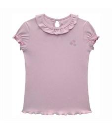 Джемпер для девочки Снег розовый, короткие рукава-фонарики