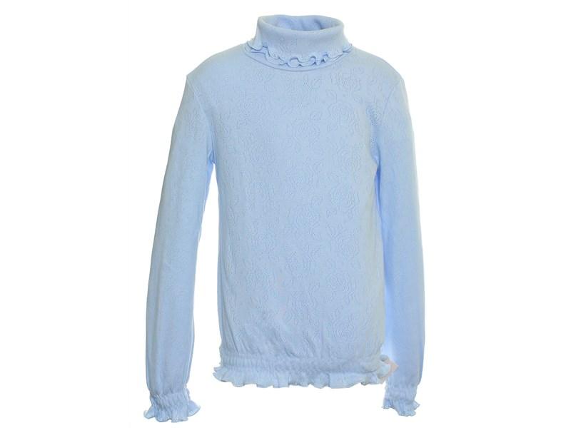 Джемпер голубой Снег ажурный с отд. резинкой длинный рукав