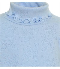 Фото 2. Джемпер голубой Снег ажурный с отд. резинкой длинный рукав