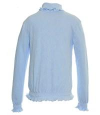 Фото 3. Джемпер голубой Снег ажурный с отд. резинкой длинный рукав