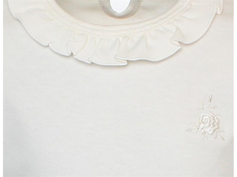 Джемпер молочный с рюшкой по воротнику 1274-ДРК-13