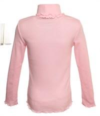 Фото 2. Джемпер Снег розовый с двойным воротом и вышивкой 951-ДДВ-07