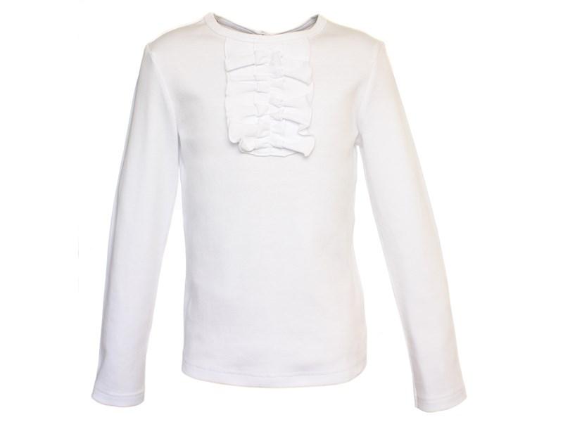 Джемпер белый с рюшкой-жабо 1260-ДРК-13