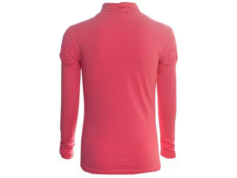 Джемпер Снег для девочки ярко-розовый рез по воротнику и рук