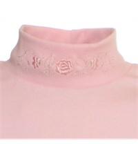 Фото 3. Джемпер Снег для девочки розовый вышивка 1076-ДКР-09