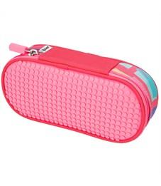 Пенал школьный пиксельный Super class pencil case WY-B012 Розовый принт
