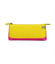 Пенал школьный пиксельный Upixel Bright Colors Pencil Case WY-B002-a Фуксия с банановым желтым