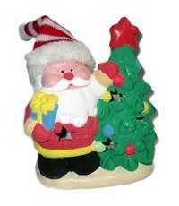 Керамический сувенир  для раскрашивания Tukzar Дед Мороз у елки с LED подсветкой