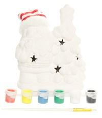 Фото 2. Керамический сувенир  для раскрашивания Tukzar Дед Мороз у елки с LED подсветкой