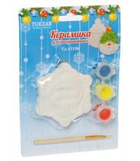 Керамический сувенир  для раскрашивания Tukzar Снеговик
