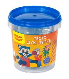 """Тесто для лепки Мульти-Пульти """"Приключения Енота"""", синий, 120г, пластиковое ведро"""