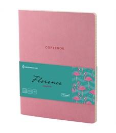 "Тетрадь 48л. А5, клетка, ЛАЙТ, кожзам, Greenwich Line ""Florence"", розовый, тон. блок"