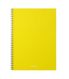 "Тетрадь 60л., А4, клетка на гребне Erich Krause ""Classic"", желтая пластиковая обложка"