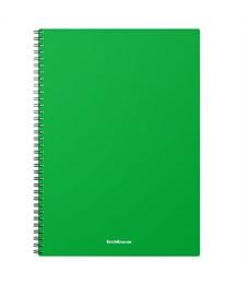 "Тетрадь 60л., А4, клетка на гребне Erich Krause ""Classic"", зеленая пластиковая обложка"