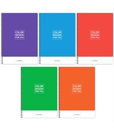 """Тетрадь 80л., А4, клетка на гребне ArtSpace """"Моноколор. Color design"""""""