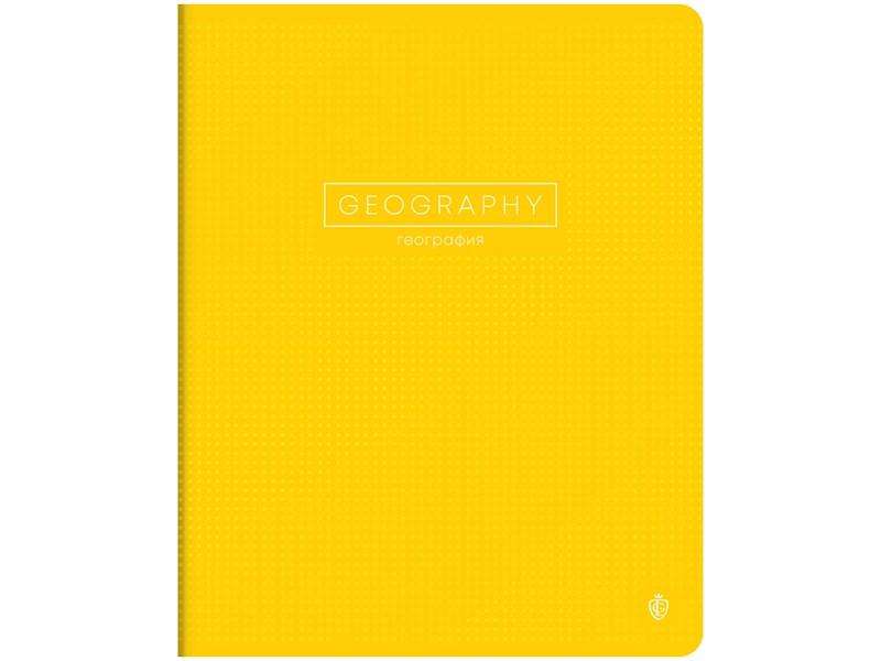 """Тетрадь предметная 48л. GreenwichLine """"Color point"""" - География, мат. лам., выб. УФ-лак, 70г/м2"""