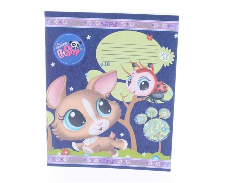 Тетрадь школьная Академия Холдинг Littlest Pet Shop, 18 листов, в клетку,карт. обложка