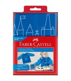Фартук-накидка с рукавами Faber-Castell, голубой/синий