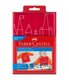 Фартук-накидка с рукавами Faber-Castell, красный/оранжевый