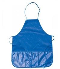 Фартук для труда Оникс, синий, с прозрачным карманом