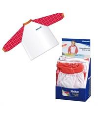 Фартук для творчества Pelikan с рукавами, красный