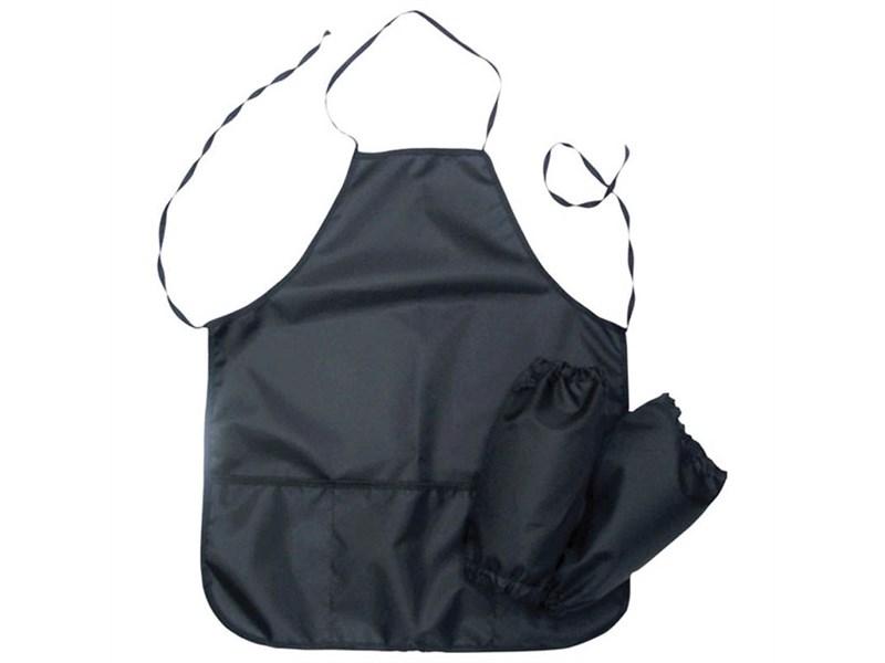 Фартук с нарукавниками ArtSpace, 3 кармана, черный