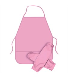 Фартук с нарукавниками ArtSpace, 49*40см, 2 кармана, розовый