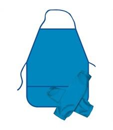 Фартук с нарукавниками ArtSpace, 49*40см, 2 кармана, синий