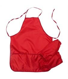 Фартук с нарукавниками Оникс, 53*45см, 2 кармана, красный