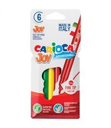 """Фломастеры Carioca """"Joy"""", 06цв., смываемые, картон, европодвес"""