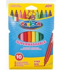 Фломастеры Carioca Joy 10 цветов, суперсмываемые