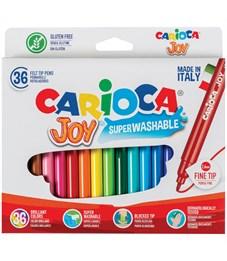 """Фломастеры Carioca """"Joy"""", 30цв., 36шт., смываемые, картон, европодвес"""