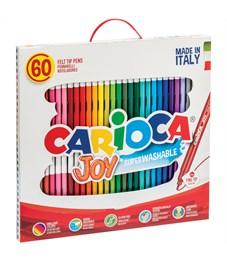 """Фломастеры Carioca """"Joy"""", 60цв., смываемые, картон, пластиковая ручка"""