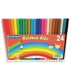 """Фломастеры Centropen """"Rainbow Kids"""", 24цв., трехгранные, смываемые, ПВХ"""