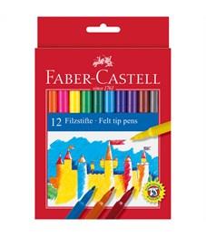 Фломастеры Faber-Castell, 12цв., смываемые, картон, европодвес