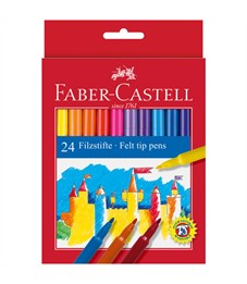 Фломастеры Faber-Castell, 24цв., смываемые, картон, европодвес