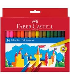 Фломастеры Faber-Castell, 36цв., смываемые, картон, европодвес