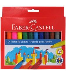 """Фломастеры Faber-Castell """"Jumbo"""", 12цв., утолщенные, смываемые, картон, европодвес"""