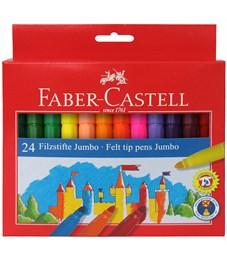 """Фломастеры Faber-Castell """"Jumbo"""", 24цв., утолщенные, смываемые, картон, европодвес"""
