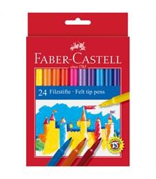 """Фломастеры Faber-Castell """"Замок"""", 24цв., смываемые, картон, европодвес"""