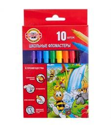 """Фломастеры Koh-I-Noor """"Пчелка"""", 10цв., трехгранные, смываемые, картон, европодвес"""